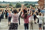 Hands up if you like YDR FM !!!  Parcroft School, Yeovil, 14-Jul-2001.