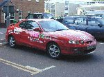 The YDR FM Road Ranger Four, supplied by Vale Motors - one of the few times it was stationary !!!  Yeovil College, 23-May-2001