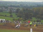 An alternative way to plow a field !!!  Yeovil Traders' Charity Grasstrack - Yeovil Showground, 28-Oct-2001