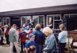 David Laws along with YDR fm's Danny D chat to the crowd.